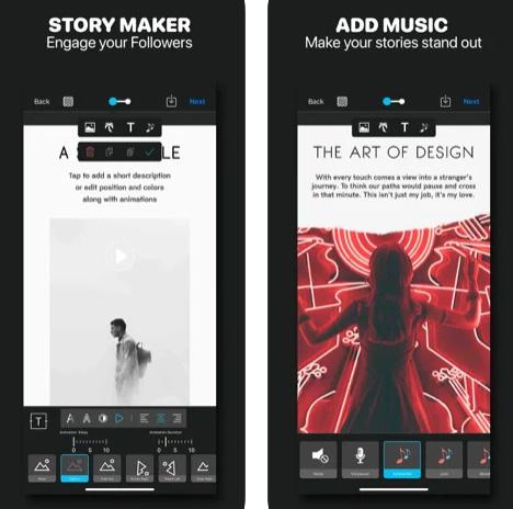 تطبيق Story Studio لإنشاء الحالات ومقاطع الفيديو القصيرة