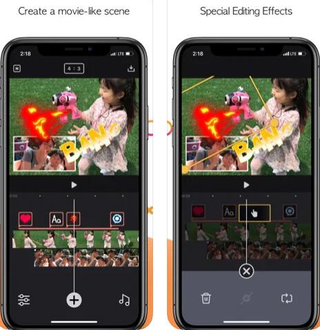 تطبيق إنشاء وتعديل الفيديو Twinkling