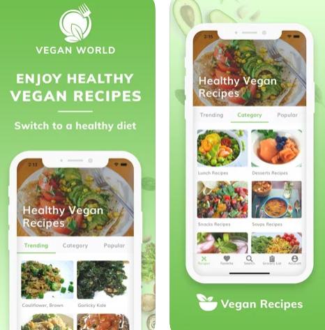 تطبيقات وصفات طبخ النظام النباتي