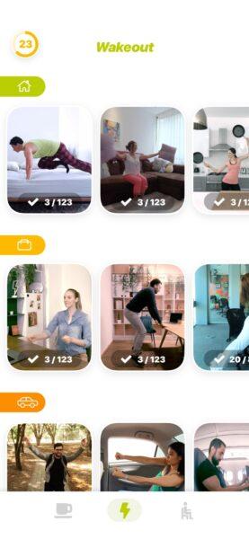 تطبيق ممارسة التمارين المنزلية Wakeout