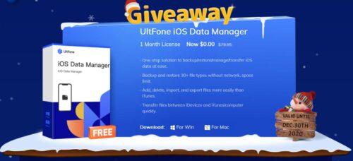 أحصل على برنامج UltFone iOS Data Manager مجانًا مع خصم ضخم على برامج إدارة الآيفون الأخرى