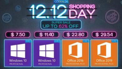 عروض حصرية - مفاتيح تفعيل ويندوز 10 وأوفيس بخصم يصل إلى 95% وأقل سعر ممكن على الإطلاق!