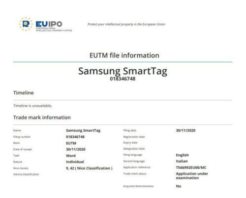 يبدو أن سامسونح هي الأخرى تعمل على متعقب وسيحمل الاسم Galaxy Smart Tag