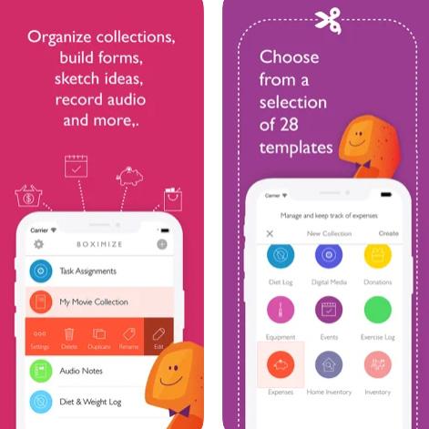 تطبيق Boximize - تطبيق المفكرة والملاحظات المثالي