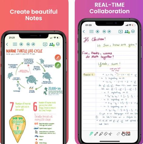 تطبيق CollaNote لتدوين الملاحظات والرسم