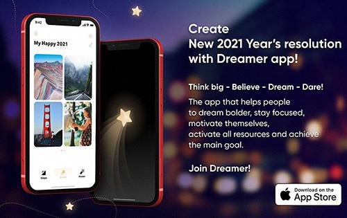 تطبيق Dreamer سوف يساعدك في تحقيق خطط و أهداف العام الجديد!