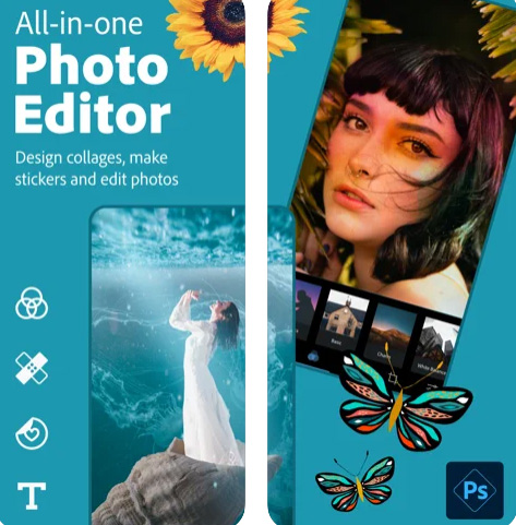 تطبيق Photoshop Express لتحرير الصور