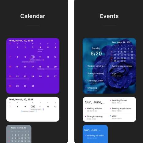 تطبيق Widget Calendar - ويدجت التقويم