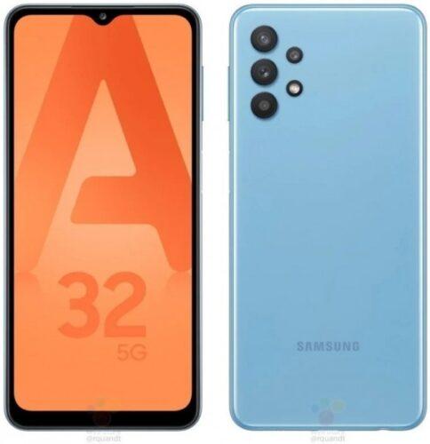 الكشف عن تصميم هاتف جالكسي A32 يوضح لنا تصميم جديد لهواتف سامسونج