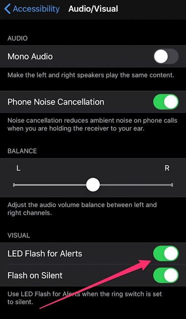 كيفية تفعيل إضاءة الفلاش عند تلقي المكالمات والإشعارات على الايفون والايباد؟