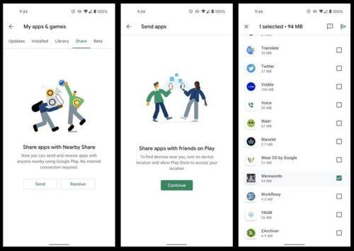 الآن يمكنك مشاركة تطبيقات أندرويد مع الأصدقاء عبر Nearby Share