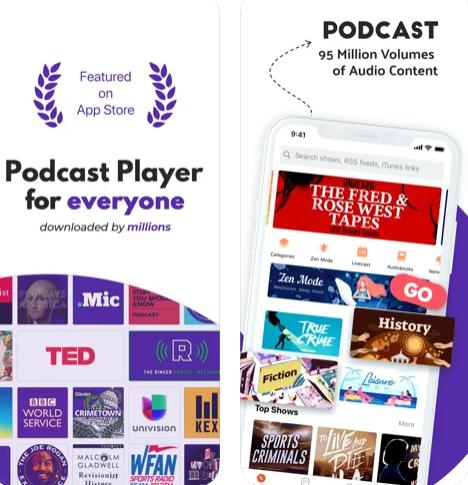تطبيق Castbox الاستماع للبودكاست
