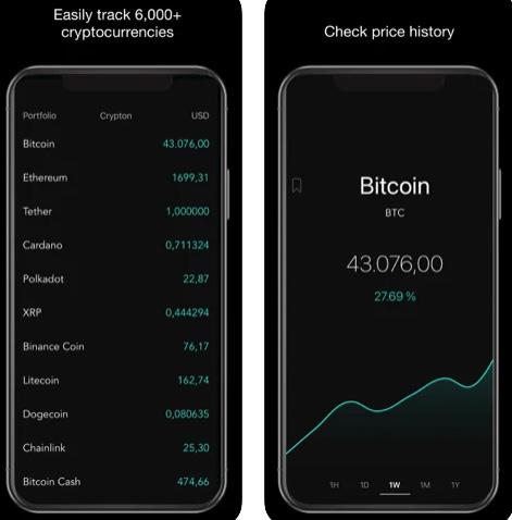 تطبيق Crypton لتتبع أسعار العملات الرقمية