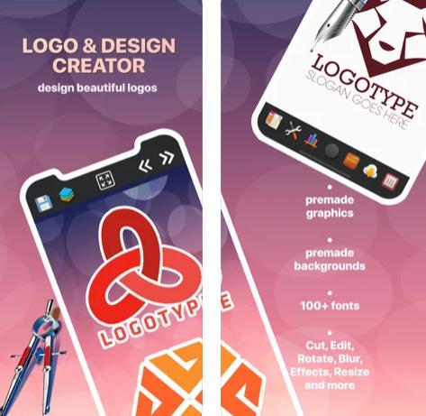 تطبيق مصمم الشعارات والتصميمات