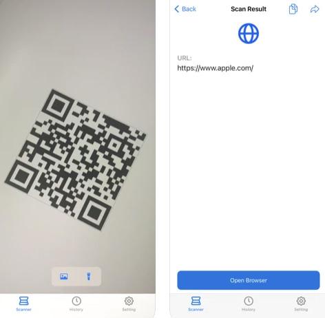 تطبيق QR Scanner قاريء الأكواد السريعة الذكية