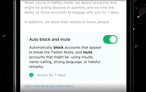 الحظر والكتم التلقائي في تويتر
