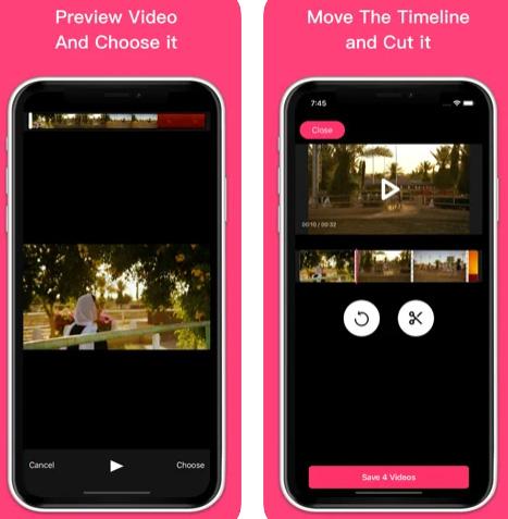 تطبيق Video Trim لتقطيع الفيديو