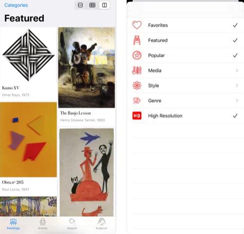 تطبيق WikiArt - كل اللوحات الفنية في تطبيق واحد