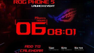 هاتف الألعاب Asus ROG Phone 5 قادم رسميًا في مارس.. تعرف عليه