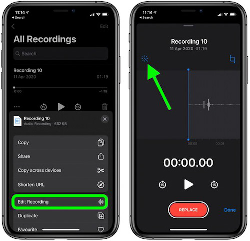 كيفية تحسين جودة التسجيل في تطبيق المذكرات الصوتية؟