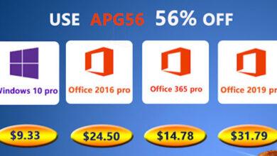 احصل على مفاتيح تفعيل ويندوز 10 و حزمة الأوفيس الأصلية بأرخص سعر على الإطلاق!