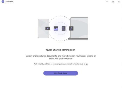 سامسونج تخطط لإطلاق خاصية Quick Share لنظام ويندوز 10