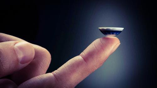 أجهزة ابل المستقبلية - عدسات لاصقة بتقنية الواقع المعزز!