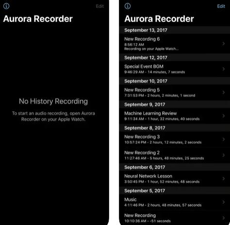 تطبيق Aurora Recorder للتسجيل عبر ساعة ابل