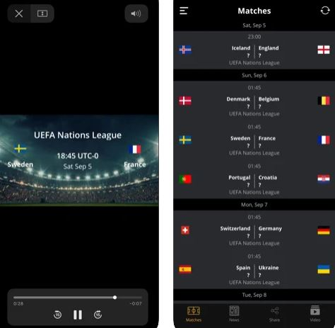 تطبيق Football Today أهم المباريات والنتائج
