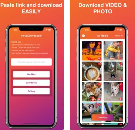 تطبيق Insta Save - حفظ الصور والفيديو من إنستاغرام
