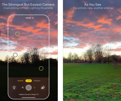 تطبيق Lightsynth - التصوير بأوضاع إضاءة مختلفة