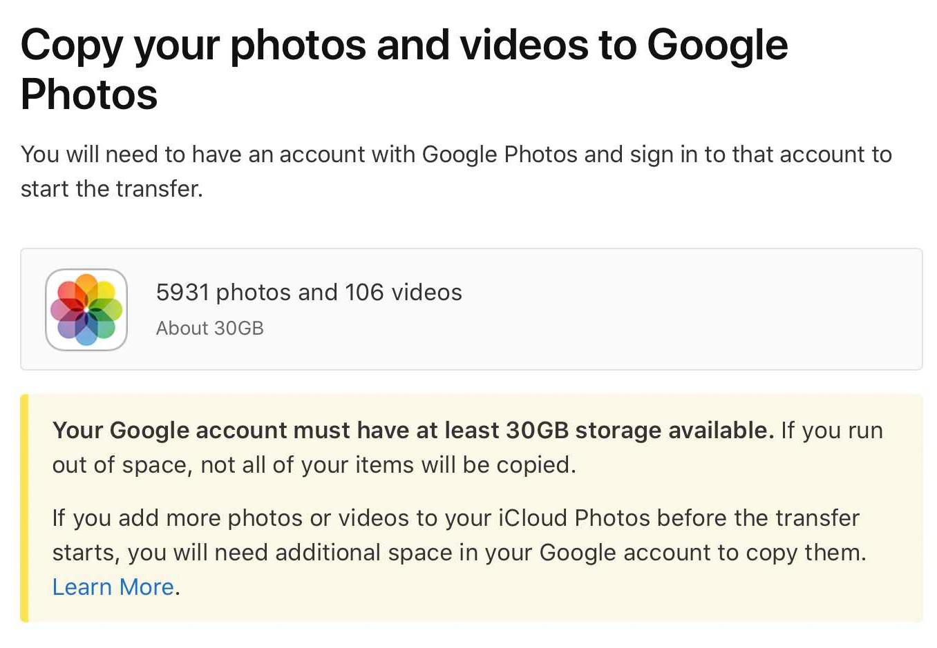 كبفية نقل الصور والفيديو من حساب ابل أي كلاود إلى حساب جوجل بسهولة؟