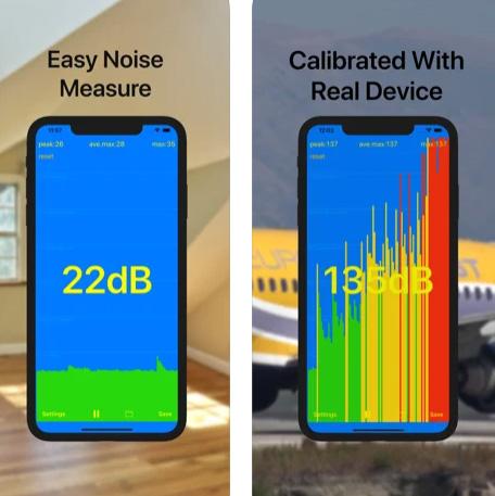 تطبيق dB meter - قياس شدة الضوضاء