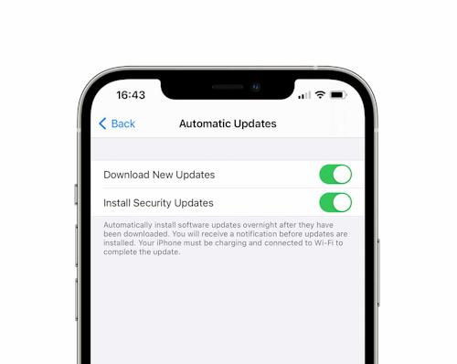 إمكانية تنزيل وتثبيت التحديثات الأمنية فقط على الايفون والايباد!