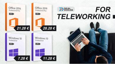 منتجات مايكروسوفت بأسعار رخيصة - ويندوز 10 برو بأقل من 8 يورو!