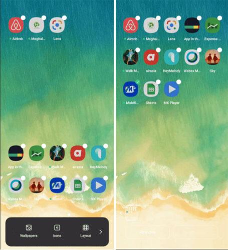 تصنيف الأيقونات وفرزها بالشاشة الرئيسية في واجهة المستخدم UI 2.0