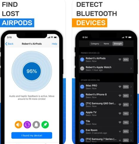 تطبيق تتبع مكان السماعات Airpod Tracker