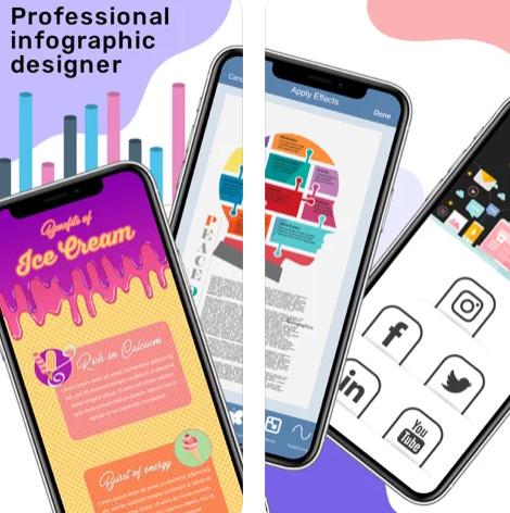 تطبيق InfoGraphic Poster Creator - لإنشاء التصميمات والإنفوغرافيك