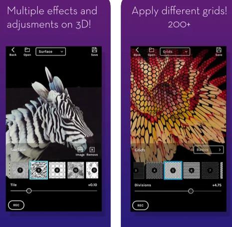 تطبيق KinoGlitch لصناعة صور وفيديو ثلاثي الأبعاد