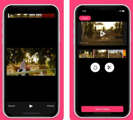 تطبيق تقطيع وقص الفيديو Video Trim