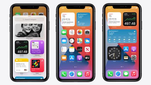 تحسين الويدجت في تحديث iOS 15
