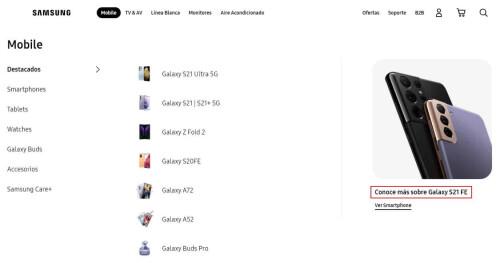 سامسونج تذكر هاتف جالكسي S21 FE رسميًا في موقعها.. وهذه هي مواصفاته