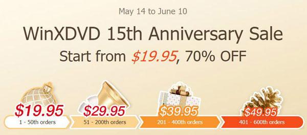 خصومات ضخمة على برامج WinXDVD لتحويل الفيديو، تحويل DVD، ونقل البيانات من الآيفون للويندوز