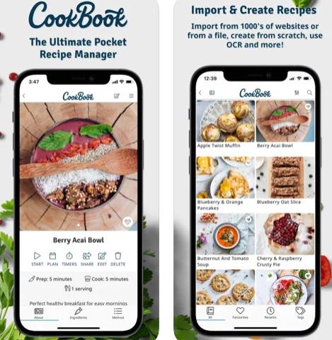 تطبيق CookBook - احتفظ بوصفات الطبخ