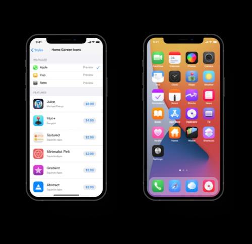 الأيقونات في iOS 15