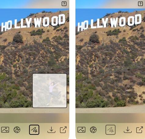 تطبيق إزالة الأجزاء العير مرغوب فيها في الصورة