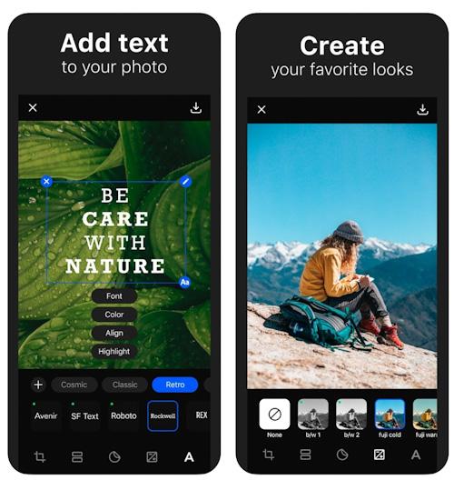 تطبيق Title للكتابة على الصور