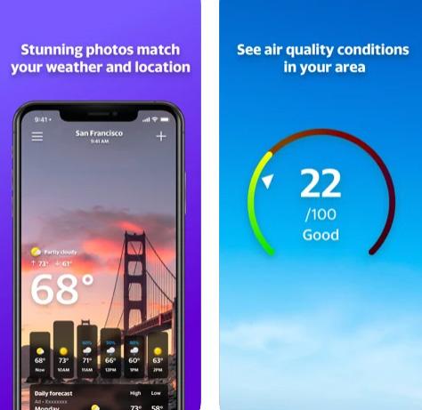 تطبيق ياهو للطقس Yahoo Weather