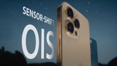 كاميرا ايفون 13 - تقنية التثبيت البصري عبر تحريك المستشعر قادمة لجميع الإصدارات!