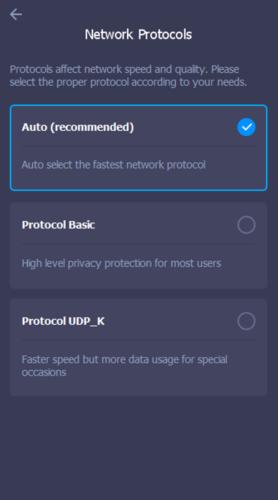 ثلاثة أوضاع مختلفة من الاتصال الآمن